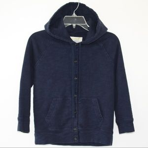 J. Crew Hoodie Rumpled French Terry Navy sz S